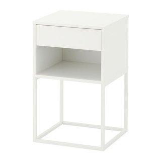 IKEA イケア VIKHAMMER ヴィークハムメル ベッドサイドテーブル ホワイト z80388974