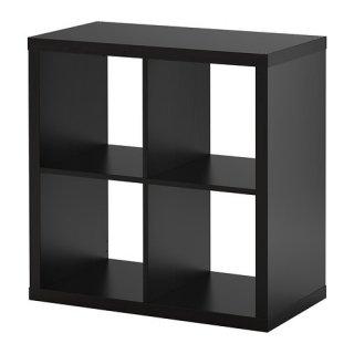 IKEA イケア KALLAX シェルフユニット ブラックブラウン b50351892