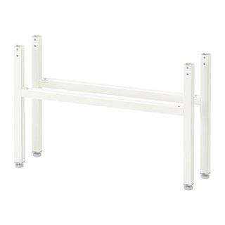 IKEA イケア HALLAN ヘッラン 2本 脚 ホワイト z90363633