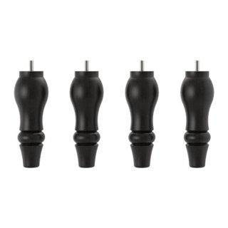 IKEA イケア STOCKSUND 脚 フットスツール・ベンチ用 / 4 ピース ブラック c40289320