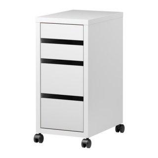 IKEA イケア MICKE 引き出しユニット キャスター付き ホワイト 白 a40354283 ミッケ