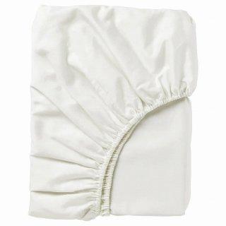 IKEA イケア ボックスシーツ カバー ホワイト クイーン 160x200cmd40343708 NATTJASMIN