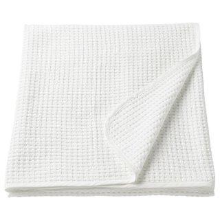 IKEA イケアベッドカバー シングル ホワイト 250cmx150cm VARELD z80384018