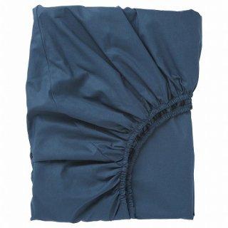 IKEA イケア ボックスシーツ カバー ダークブルー クイーン 160x200cm d90342725 ULLVIDE