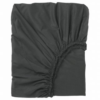 IKEA イケア ボックスシーツ ブラック シングル 90x200cm 90x200cm z80357227 DVALA