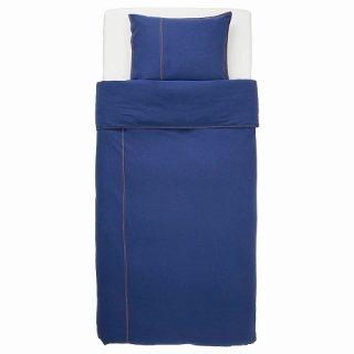 IKEA イケア 掛け布団カバー&枕カバー ダークブルー シングル n10426998 SANGLARKA