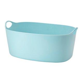 IKEA イケア TORKIS フレキシブルランドリーバスケット 室内/屋外用 ブルー a30339226