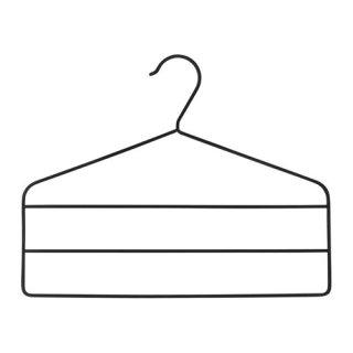 IKEA イケア STRYKIS ズボンハンガー ブラック d40317064