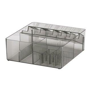 IKEA イケア GODMORGON ボックス 仕切り付き スモーク z90400268