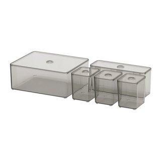 IKEA イケア GODMORGON グモロン ふた付きボックス5点セット z30400271
