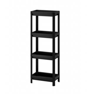 IKEA(イケア) VESKEN ヴェスケン シェルフユニット ブラック n10450808