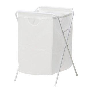 IKEA イケア JALL ランドリーバッグ スタンド付き ホワイト a10171826