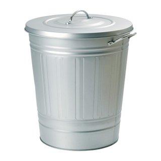IKEA イケア ふた付きゴミ箱 亜鉛メッキ 40L a00218928 KNODD