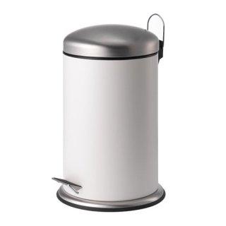 IKEA イケア ペダル式ゴミ箱 ホワイト 12L n20422848 MJOSA