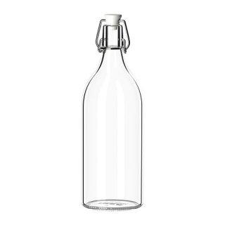 IKEA イケア ボトル ふた付き クリアガラス a00213558 KORKEN