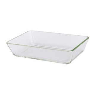 IKEA イケア オーブン対応皿 27x18cm クリアガラス MIXTUR a40133989