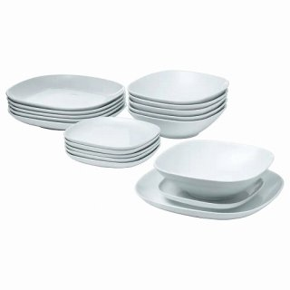 IKEA イケア 食器18点セット ホワイト VARDERA d40277355