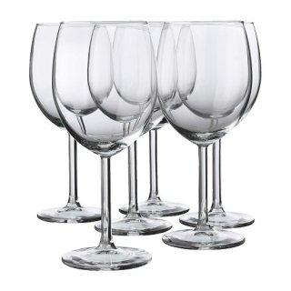 IKEA イケア SVALKA 赤ワイングラス 300ml/ 6 ピース d40137812
