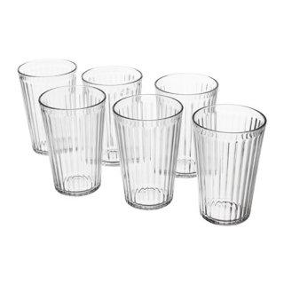 IKEA イケア VARDAGEN グラス 430ml クリアガラス / 6 ピース d50313107