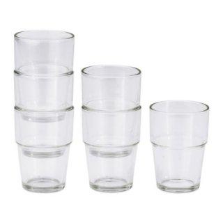 IKEA イケア REKO グラス 170ml クリアガラス / 6 ピース d20137851