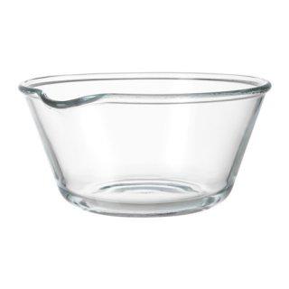 IKEA イケア サービングボウル 26cm クリアガラス d50289249 VARDAGEN
