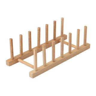 IKEA イケア プレート 皿ホルダー 竹 OSTBIT d00313322