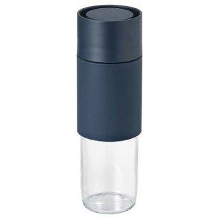 IKEA イケア EFTERSTRAVA 携帯用マグ 0.5L クリアガラス シリコン n20415310