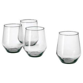 IKEA イケア IVRIG グラス グレー 4ピース 450ml n80445229