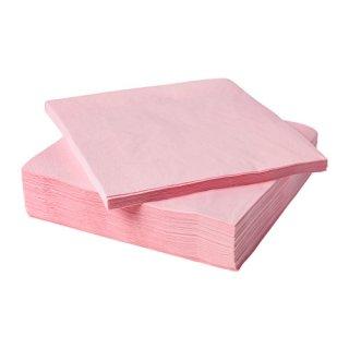 IKEA イケア FANTASTISK 紙ナプキン ライトピンク z40368483