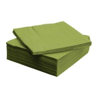 IKEA イケア FANTASTISK 紙ナプキン/ 50 ピース ミディアムグリーン 60160142