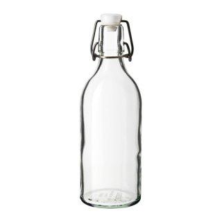 IKEA イケア ボトル ふた付き クリアガラス a00322473 KORKEN