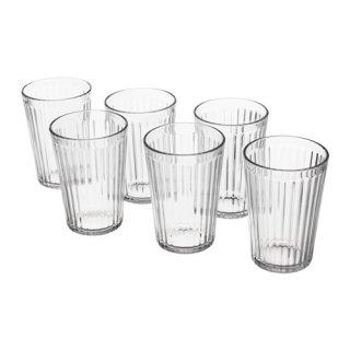 IKEA イケア VARDAGEN グラス 310ml クリアガラス / 6 ピース d80286918