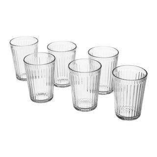IKEA イケア VARDAGEN グラス 200ml クリアガラス / 6 ピース d40286915