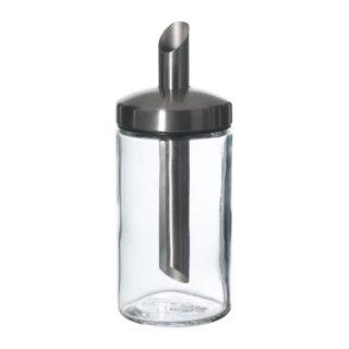 IKEA イケア DOLD 砂糖入れ クリアガラス ステンレススチール d90137070