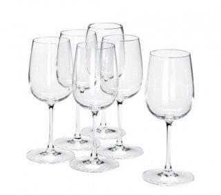 IKEA イケア STORSINT 白ワイングラス 320ml クリアガラス 6ピース n70396314