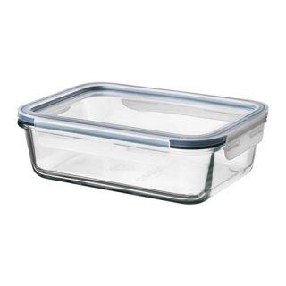 IKEA イケア 保存容器 ふた付き 長方形 ガラス プラスチック1.0L z69269072 IKEA 365+