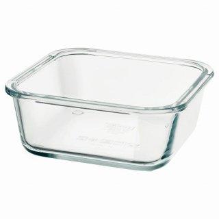 IKEA イケア 保存容器のみ 正方形 ガラス 600ml z80359207 IKEA 365+