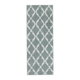 IKEA イケア キッチンマット ライトグリーン ホワイト 120×45cm AUNING z70397304