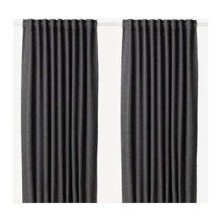 IKEA イケア 遮光カーテン 長さ250cm×幅145cm 1組 グレー z80390241 ANNAKAJSA