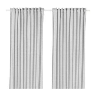 IKEA イケア カーテン 長さ250cm×幅145cm 1組 グレー z90417320 HANNALILL
