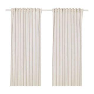 IKEA イケア カーテン 長さ250cm×幅145cm 1組 ベージュ z10410884 HANNALILL