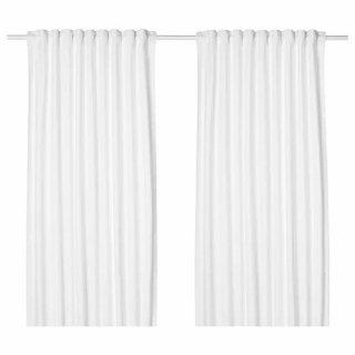 IKEA イケア カーテン 長さ250cm×幅145cm 1組 ホワイト z30396759 TIBAST