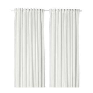 IKEA イケア カーテン 長さ250cm×幅145cm 1組 ホワイト z60364747 MERETE
