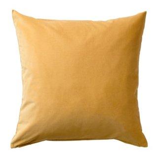 IKEA イケア クッションカバー ゴールデンブラウン 50x50cm z80370158 SANELA
