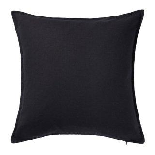 IKEA イケア クッションカバー ブラック 50x50cm 60281139 GURLI