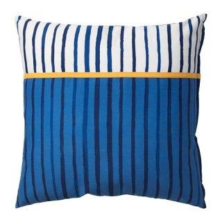 IKEA イケア クッション ストライプ ブルー オレンジ 50x50cm n60427014 SANGLARKA