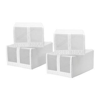 IKEA イケア SKUBB スクッブ シューズボックス ホワイト 80186396 幅22×奥行き34×高さ16cm