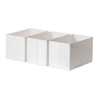 IKEA イケア SKUBB スクッブ ボックス / 3 ピース ホワイト d40290371 幅31×奥行き55×高さ33cm