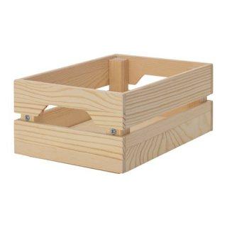 IKEA イケア KNAGGLIG ボックス パイン材 z10392601