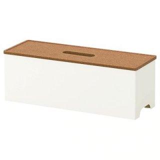 IKEA イケア ケーブルマネジメントボックス コルク ホワイト n40203958 KVISSLE